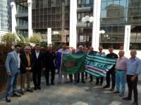 Consorzi di bonifica: Lavoratori senza stipendio protestano al centro direzionale