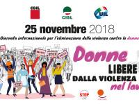 Violenza donne: Cgil, Cisl e Uil, lavoro sia luogo sicuro e rispettoso della dignità di lavoratrici e lavoratori